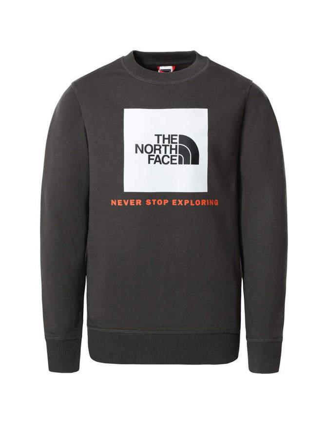The North Face Felpa con Cappuccio Ragazzo Box Crew Grigia