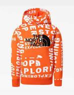 The North Face Felpa con Cappuccio Ragazzo Drew Peak Arancione