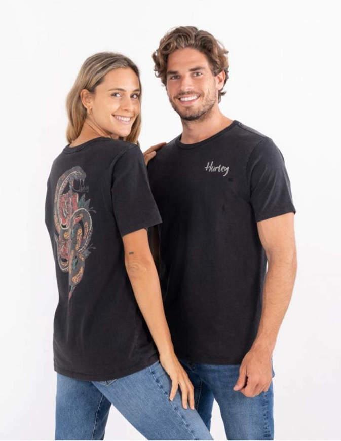 Hurley T-Shirt Uomo Cobra Oceancare Everyday Washed Nera
