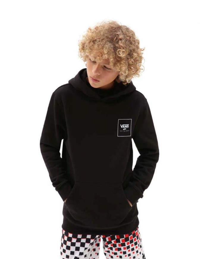 Vans Boy's Classic Pullover Hoodie Print Box Black