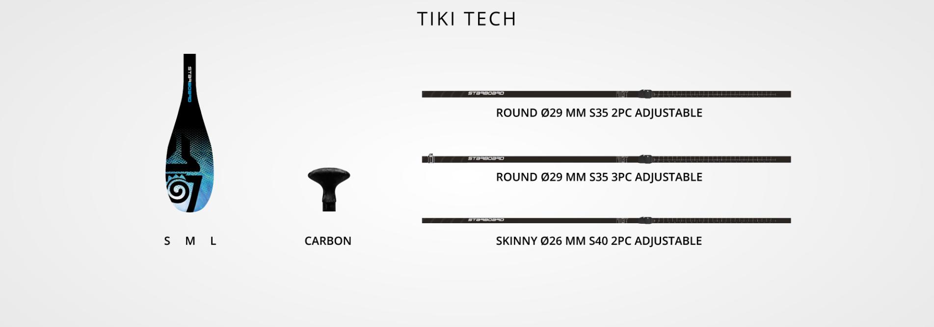 Starboard Paddle LIMA Tikitech 2 pieces Vario Skinny 26 Hybrid Carbon S40